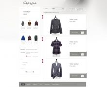 Exquisite online store of a popular Bulgarian apparel manufacturer, powered by Summer Cart shopping cart.