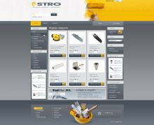 Online store for construction materials, powered by Summer Cart shopping cart and modified to the business specifics.