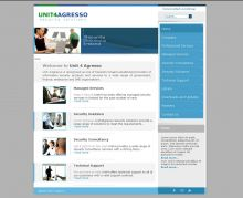 A company website, that present the services and products of the company Unit4Agresso. It is based on the Joomla CMS.