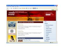 Web design for the Youth For The World site.