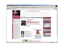 Web design for the Maine Right To Life