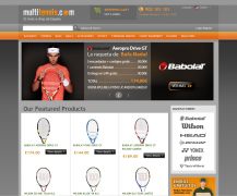 An online store featuring a myriad of tennis products for the Spanish and Portugal markets. Another excellent online store powered by Summer Cart shopping cart.